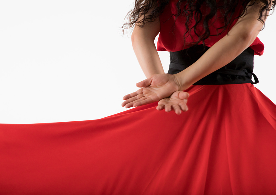 Sufi dance skirt - red
